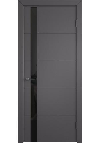 Межкомнатная дверь Trivia, со стеклом, цвет Graphite