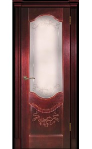 Дверь Прованс-2 красное дерево (сапель) ДО