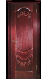 Дверь Прованс-2 красное дерево (сапель) ДГ