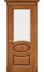 Дверь Халес Валенсия Медовый дуб Остекленные