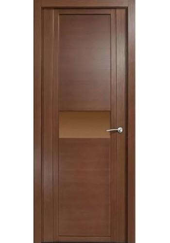 Дверь Мильяна Qdo H Дуб палисандр Стекло бронза