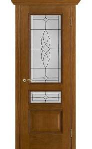 Дверь Вист Вена Античный дуб Витраж