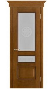 Дверь Вист Вена Античный дуб стекло Версачи