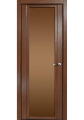 Дверь Мильяна Qdo X Дуб палисандр Стекло бронза