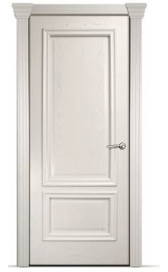 Дверь Мильяна Бристоль Премиум Ясень жемчуг Без стекла