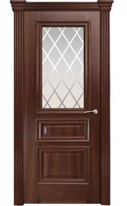Дверь Мильяна Бристоль Сити Итальянский орех стекло Готика