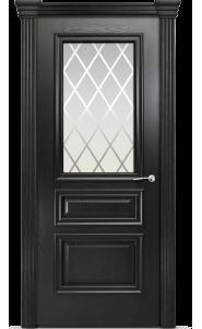 Дверь Мильяна Бристоль Сити Ясень винтаж стекло Готика