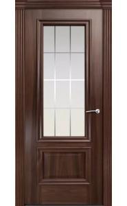 Дверь Мильяна Бристоль Премиум Красное дерево стекло Готика