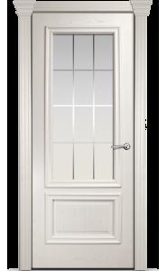 Дверь Мильяна Бристоль Премиум Ясень жемчуг стекло Премиум