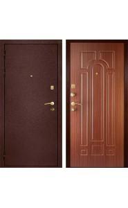 Дверь Дива МД-04 Медь - Орех Тисненый