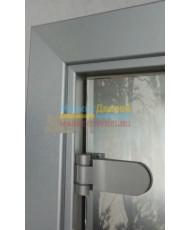 Фото установленной Дверь стеклянная Акма Light Матовая бесцветная