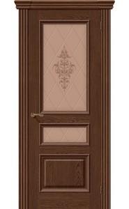 Межкомнатная дверь Вена, со стеклом, цвет Виски