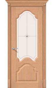 Межкомнатная дверь Афина, со стеклом, цвет Дуб