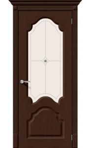 Межкомнатная дверь Афина, со стеклом, цвет Венге