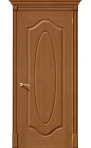 Межкомнатная дверь Аура, цвет Орех