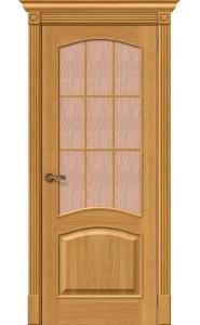 Межкомнатная дверь Вуд Классик-33, со стеклом, цвет Natur Oak