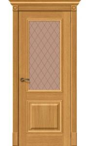 Межкомнатная дверь Вуд Классик-13, со стеклом, цвет Natur Oak
