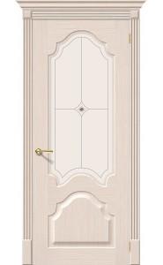 Межкомнатная дверь Афина, со стеклом, цвет БелДуб