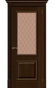 Межкомнатная дверь Вуд Классик-13, со стеклом, цвет Golden Oak