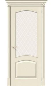 Межкомнатная дверь Вуд Классик-33, со стеклом, цвет Ivory