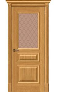Межкомнатная дверь Вуд Классик-15.1, со стеклом, цвет Natur Oak