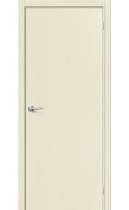Межкомнатная дверь Вуд Флэт-0.V, цвет Ivory