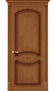 Межкомнатная дверь Азалия, цвет Орех