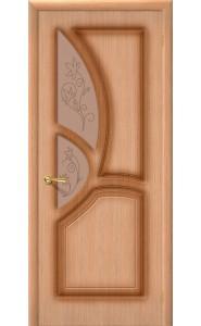 Межкомнатная дверь Греция, со стеклом, цвет Дуб