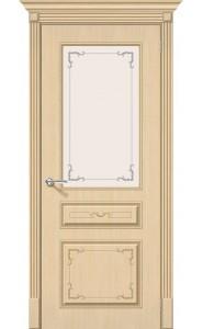 Межкомнатная дверь Классика, со стеклом, цвет БелДуб