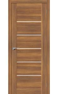 Межкомнатная дверь Легно-22, со стеклом, цвет Golden Reef