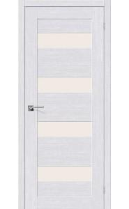 Межкомнатная дверь Легно-23, со стеклом, цвет Milk Oak