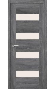 Межкомнатная дверь Легно-23, со стеклом, цвет Chalet Grasse