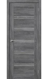 Межкомнатная дверь Легно-28, со стеклом, цвет Chalet Grasse