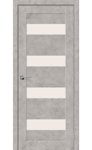 Межкомнатная дверь Легно-23, со стеклом, цвет Grey Art
