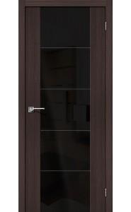 Межкомнатная дверь V4 BS, со стеклом, цвет Wenge Veralinga