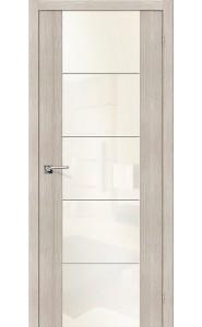 Межкомнатная дверь V4 WР, со стеклом, цвет Cappuccino Veralinga