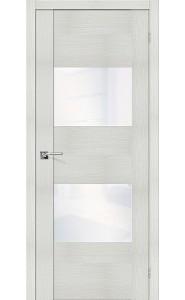 Межкомнатная дверь VG2 WW, со стеклом, цвет Bianco Veralinga