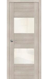 Межкомнатная дверь VG2 WР, со стеклом, цвет Cappuccino Veralinga