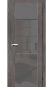 Межкомнатная дверь V4 S, со стеклом, цвет Grey Veralinga