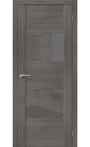 Межкомнатная дверь VG2 S, со стеклом, цвет Grey Veralinga