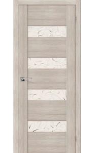 Межкомнатная дверь VM4, со стеклом, цвет Cappuccino Veralinga