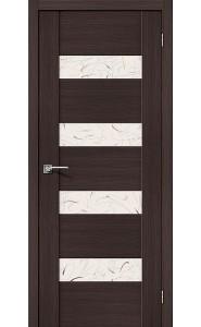 Межкомнатная дверь VM4, со стеклом, цвет Wenge Veralinga