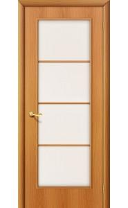 Межкомнатная дверь 10С, со стеклом, цвет МиланОрех