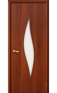 Межкомнатная дверь 12С, со стеклом, цвет ИталОрех