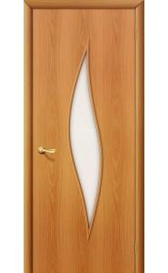 Межкомнатная дверь 12С, со стеклом, цвет МиланОрех