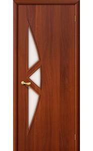 Межкомнатная дверь 15С, со стеклом, цвет ИталОрех