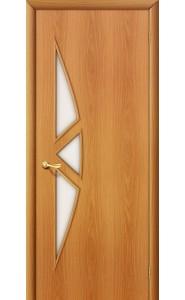 Межкомнатная дверь 15С, со стеклом, цвет МиланОрех