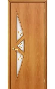 Межкомнатная дверь 15Ф, со стеклом, цвет МиланОрех