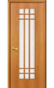 Межкомнатная дверь 16С, со стеклом, цвет МиланОрех