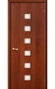 Межкомнатная дверь 1С, со стеклом, цвет ИталОрех